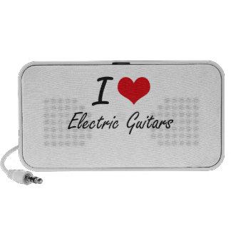 I love Electric Guitars Laptop Speakers