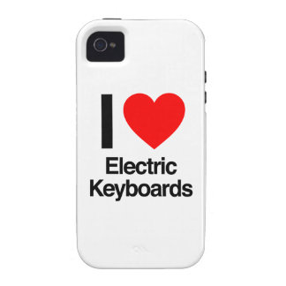 i love electric keyboards Case-Mate iPhone 4 cases