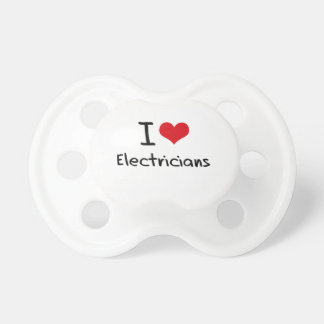 I love Electricians Baby Pacifier