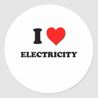 I love Electricity Round Sticker