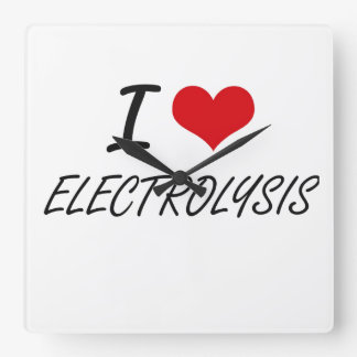 I love ELECTROLYSIS Clock