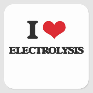 I love ELECTROLYSIS Square Sticker