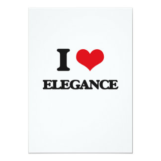 I love ELEGANCE 13 Cm X 18 Cm Invitation Card