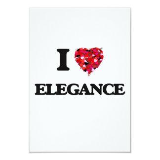 I love ELEGANCE 9 Cm X 13 Cm Invitation Card
