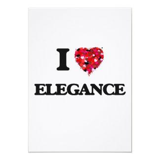 I love ELEGANCE 13 Cm X 18 Cm Invitation Card