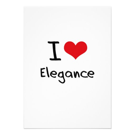 I love Elegance Card