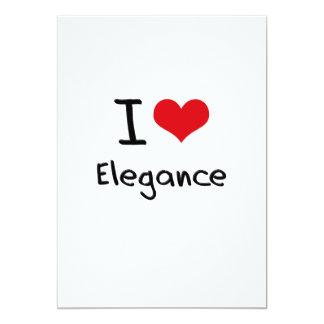 I love Elegance 5x7 Paper Invitation Card