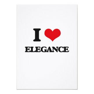 "I love ELEGANCE 5"" X 7"" Invitation Card"