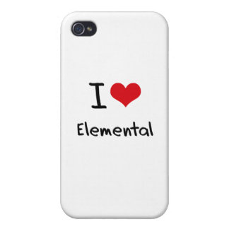 I love Elemental iPhone 4/4S Case