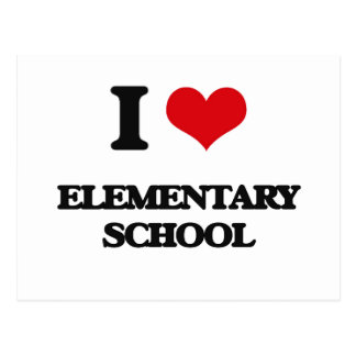 I love ELEMENTARY SCHOOL Post Cards