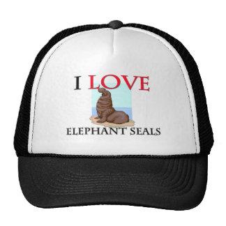 I Love Elephant Seals Trucker Hat