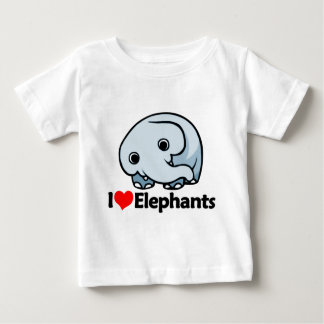 I Love Elephants Baby T-Shirt
