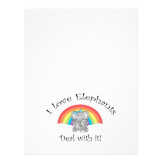 I love elephants deal with it! 21.5 cm x 28 cm flyer