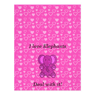 I love elephants deal with it 21.5 cm x 28 cm flyer