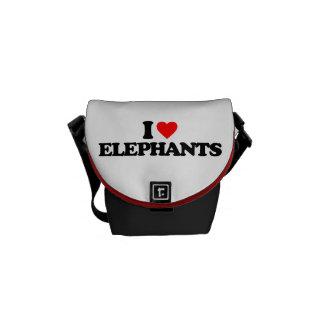 I LOVE ELEPHANTS COURIER BAG