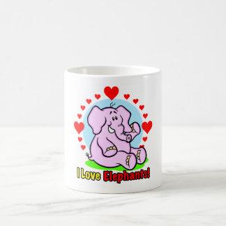 I Love Elephants Mug