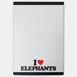 I LOVE ELEPHANTS POST-IT NOTES