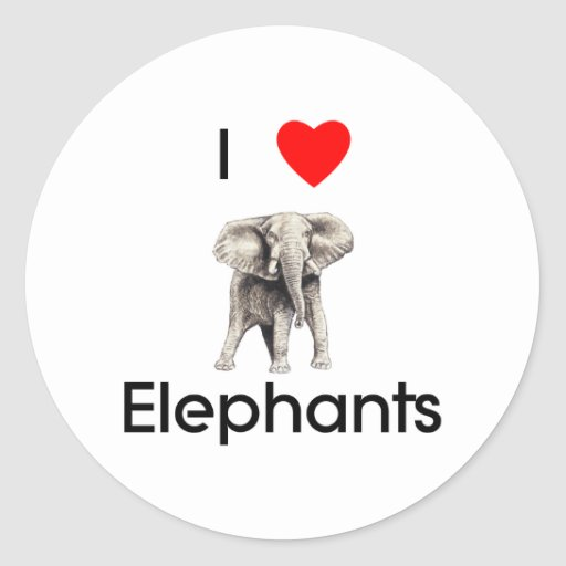 I love elephants Sticker