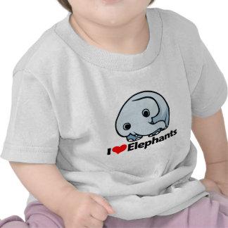 I Love Elephants Tee Shirts