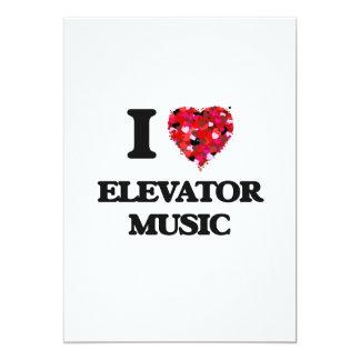 I love Elevator Music 13 Cm X 18 Cm Invitation Card