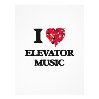I love Elevator Music 21.5 Cm X 28 Cm Flyer