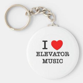 I Love Elevator Music Basic Round Button Key Ring