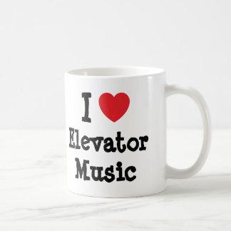 I love Elevator Music heart custom personalized Mug