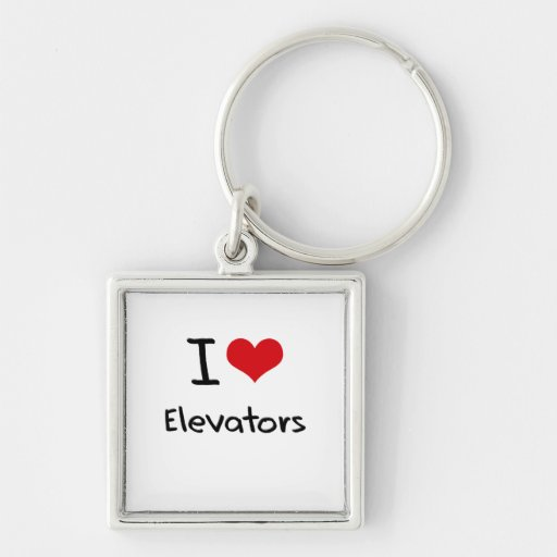 I love Elevators Keychains