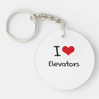 I love Elevators Double-Sided Round Acrylic Keychain