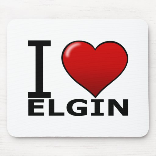 I LOVE ELGIN,IL - ILLINOIS MOUSE PADS