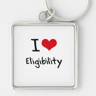 I love Eligibility Keychain