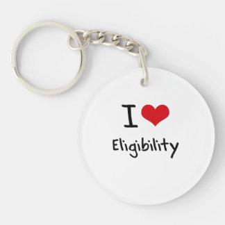 I love Eligibility Double-Sided Round Acrylic Key Ring