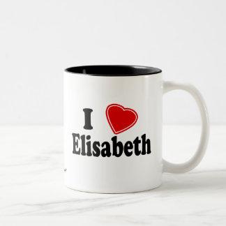 I Love Elisabeth Two-Tone Coffee Mug