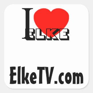 I Love Elke, Sq Sticker