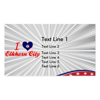 I Love Elkhorn City, Kentucky Business Card Template