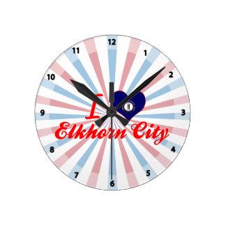 I Love Elkhorn City, Kentucky Wall Clock