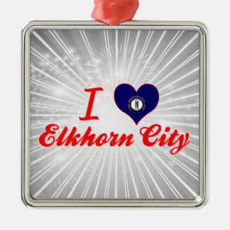 I Love Elkhorn City, Kentucky Christmas Tree Ornaments