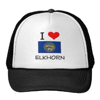 I Love Elkhorn Nebraska Mesh Hats