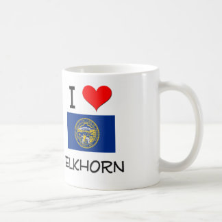 I Love Elkhorn Nebraska Coffee Mug