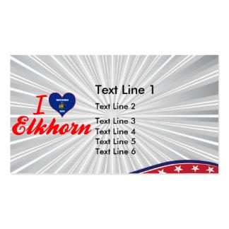 I Love Elkhorn, Wisconsin Business Card Templates