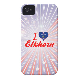 I Love Elkhorn, Wisconsin iPhone 4 Covers