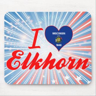 I Love Elkhorn, Wisconsin Mousepad