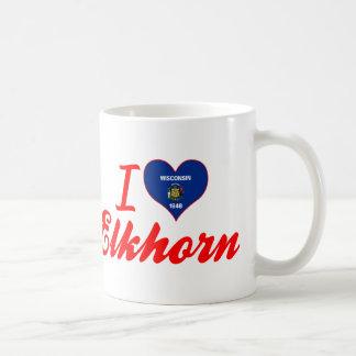 I Love Elkhorn, Wisconsin Mug