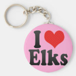 I Love Elks Key Chain