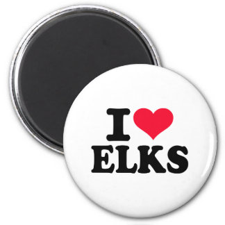 I love Elks Refrigerator Magnet
