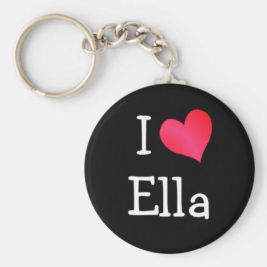 I Love Ella Basic Round Button Key Ring