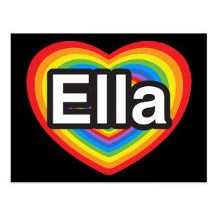 a9a48b9373dd44 I love Ella. I love you Ella. Heart Postcard