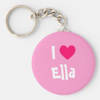 I Love Ella Key Ring