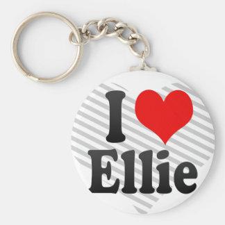 I love Ellie Basic Round Button Key Ring