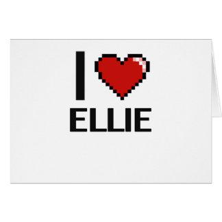 I Love Ellie Digital Retro Design Greeting Card